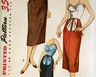 Vintage 1950s Maternity Skirt Pattern Simplicity 4004 Waist 26