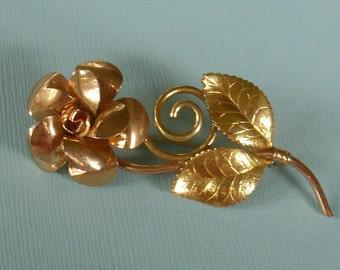 Vintage Krementz Flower Pin Brooch