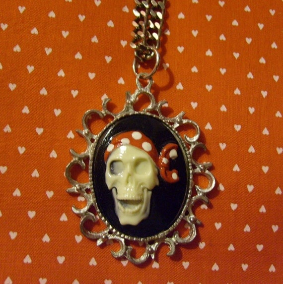 Pirate Cameo Pendant Necklace