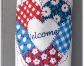 Hanging Kitchen Towel, Crochet Towel Hanger, Towel Holder, Housewarming Gift,Hostess Gift,  Welcome Heart