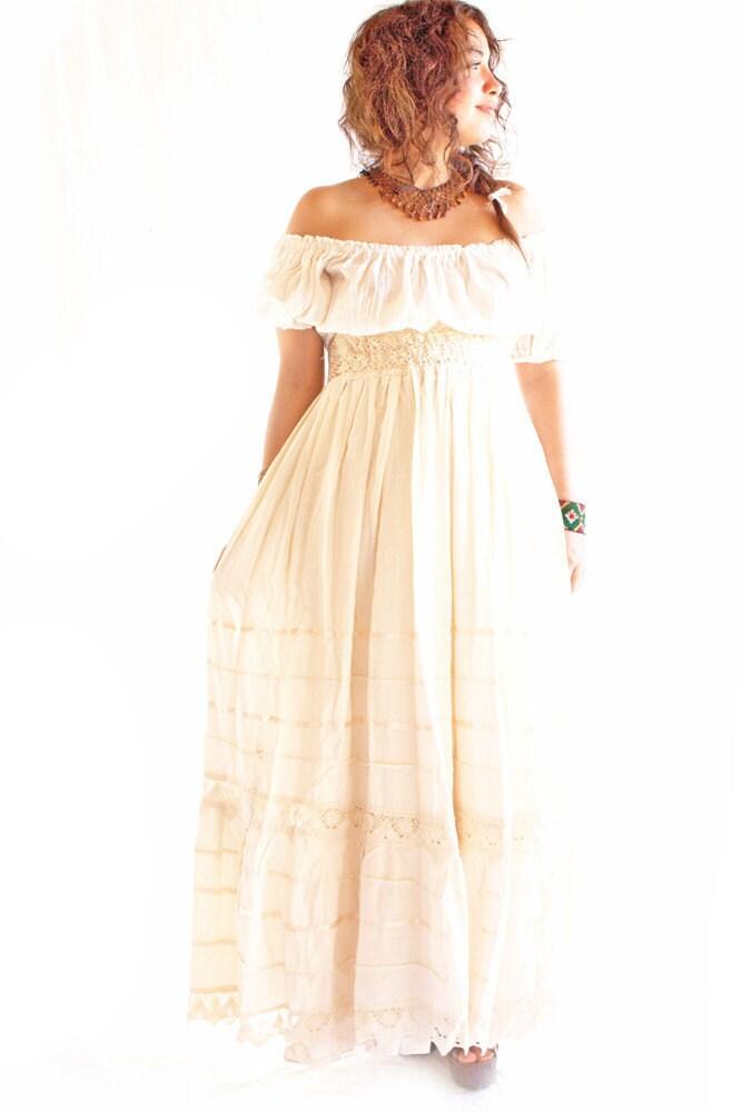 camelia mexican maxi dress bohemian by aidacoronado