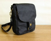 Waxed Canvas Travel Pouch Waxed Canvas Bag Waxed Canvas Pouch  The Minus Hipster Plus in Black Waxed Canvas