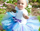 1st Birthday Tutu Sweet Periwinkle Tutu READY2SHIP 18 waist 8 length fits most 1 to 2 yr olds blue and purple tutu