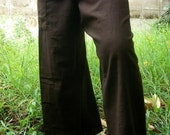 Sooo BrOwN  CottoN THAI Fisherman Wrap Pants PERFECT for All  SIZE