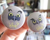 Who? Owl Button or Magnet