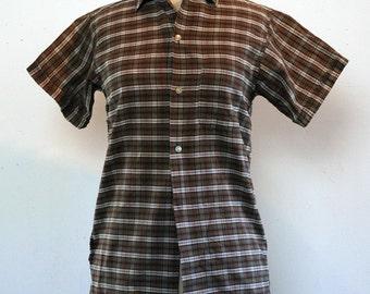 SALE---cool 1950s boys/unisex cotton plaid shirt