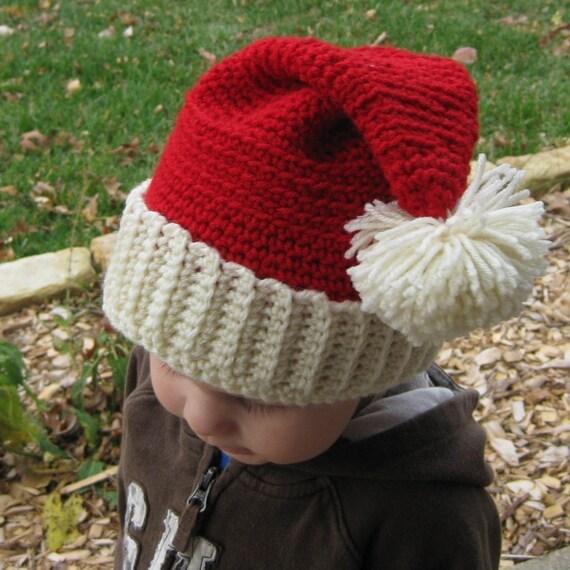 Santa Hat - Medium, Santa Claus, Holiday Accessories, Kids Santa Hat, Children's Medium