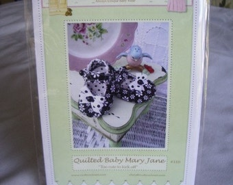 PDF Pattern Quilted Baby Shoe Mary Jane Adorable and Fun to make- Instant Download