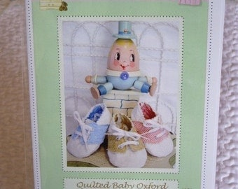 PDF Pattern Quilted Baby Shoe Oxford  Adorable and Fun to make-Instant Download