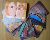 Recycled Envelopes Paul Klee, 4.5 x 6, set of 10 by PrairiePeasant