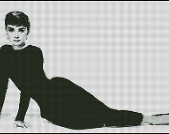 AUDREY HEPBURN SABRINA cross stitch pattern No.575