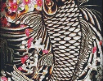 KOI FISH cross stitch pattern No.308