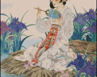 GEISHA cross stitch pattern No.391