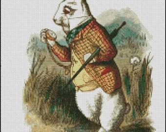 WHITE RABBIT cross stitch pattern No.197