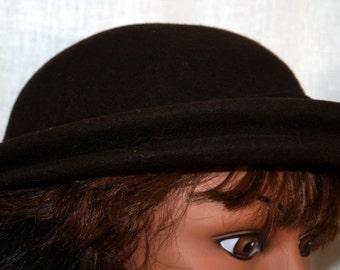 Brown Wool Cloche Hat by Penny - Merrimac
