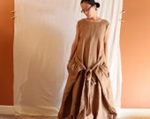 custom linen flutter dress  made to fit listing