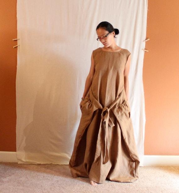 custom linen flutter dress  made to fit listing