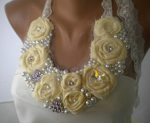 Country Weddings Handmade Bib Necklace