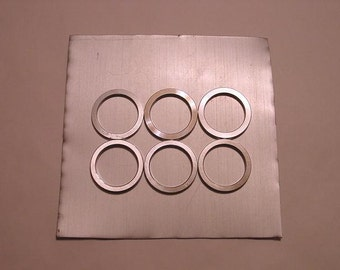 Recycled  Aluminum Sheet and Rings Jewelry Making Silversmithing Supplies.
