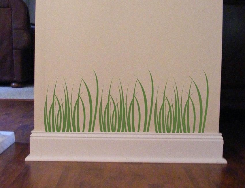 Grass Vinyl Decals Grass Blades Kids Playroom Decor Wall - Wall decals grass