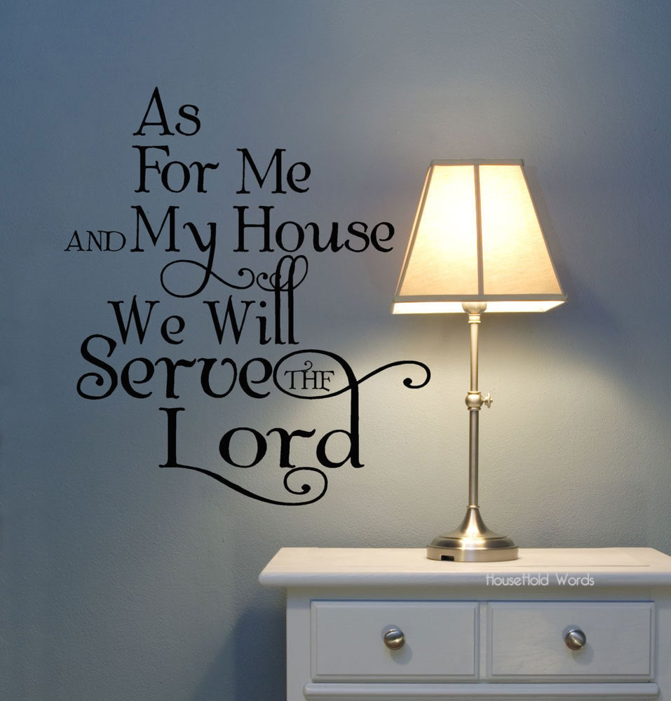 As for me and my house we will serve the Lord Vinyl Wall : ilfullxfull301582923 from etsy.com size 957 x 1000 jpeg 119kB