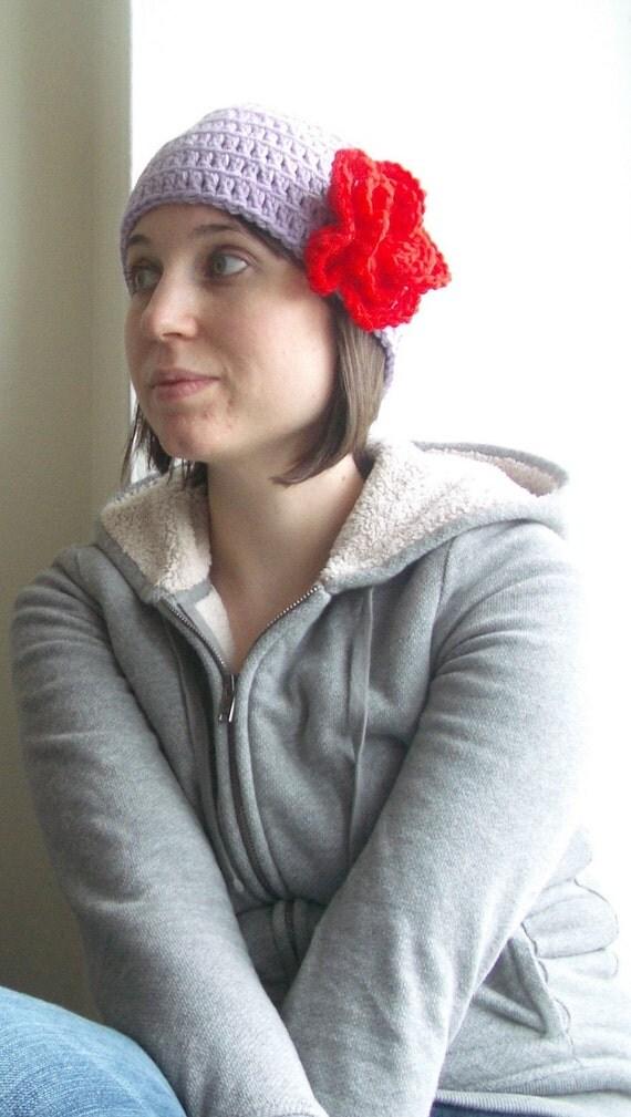 Crochet hat with flower, crochet flower hat, winter accessories