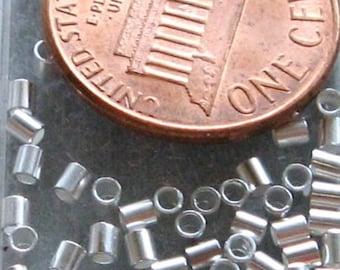 Silver Plated Crimp Bead Beadalon Tube 1.8 mm 100 pc