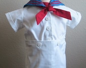 Nautical Boys White Sailor Suit, Custom Order Ring Bearer Outfit, Special Occasion Suit, Vintage Inspired, Boys Sailor Suit, Boys Nautical