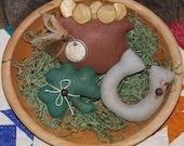 EPATTERN -- St. Patrick's Day Trio of Shimmering Tucks Bowl Fillers Ornies