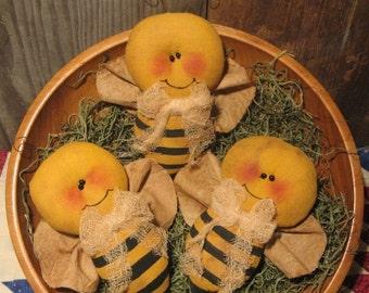 EPATTERN -- Primitive Bumblebee Tucks Ornies Bowl Fillers