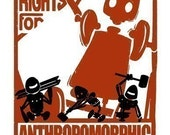LARGE Equal Rights for Anthropomorphic Automatons - 11 X 17 PRINT