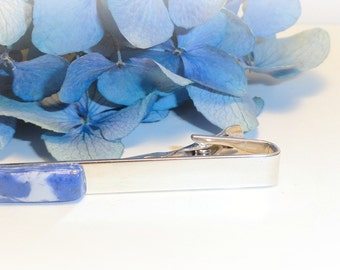 Memorial Beads, Flower Petal Jewelry, Handmade Memorial Jewelry, Funeral Flower Jewelry, Memorial Gift Idea, Men's Gift, Tie Bar