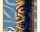 "Ancient- 8"" x 10"" Tiki Print- Tiki Wall Decor"