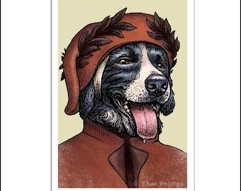Dante Collieghieri 8 x 10 dog art print