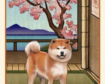 Akita Japanese Styled Print