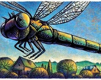 "Joy Ride- 8"" x 10"" Whimsical Dragonfly Wall Decor"