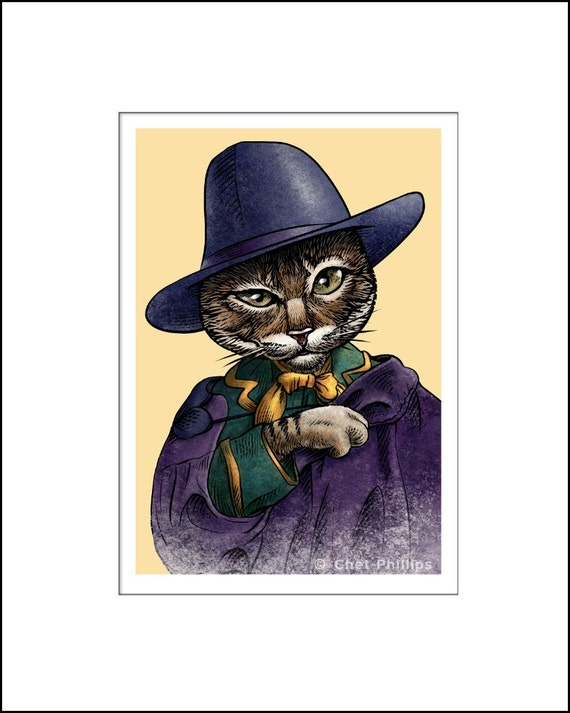Oscar wildecat 8 x 10 portrait print of oscar for Art and decoration oscar wilde