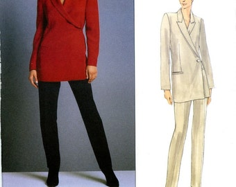 Vogue 2031 Calvin Klein American Designer Jacket Top and Pants Size 12 14 16 Uncut Sewing Pattern 1997