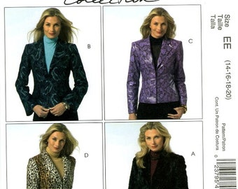 McCall's M4973 Semi Fitted Jackets Woman's Day Collection Size 14 16 18 20 Uncut Sewing Pattern 2005