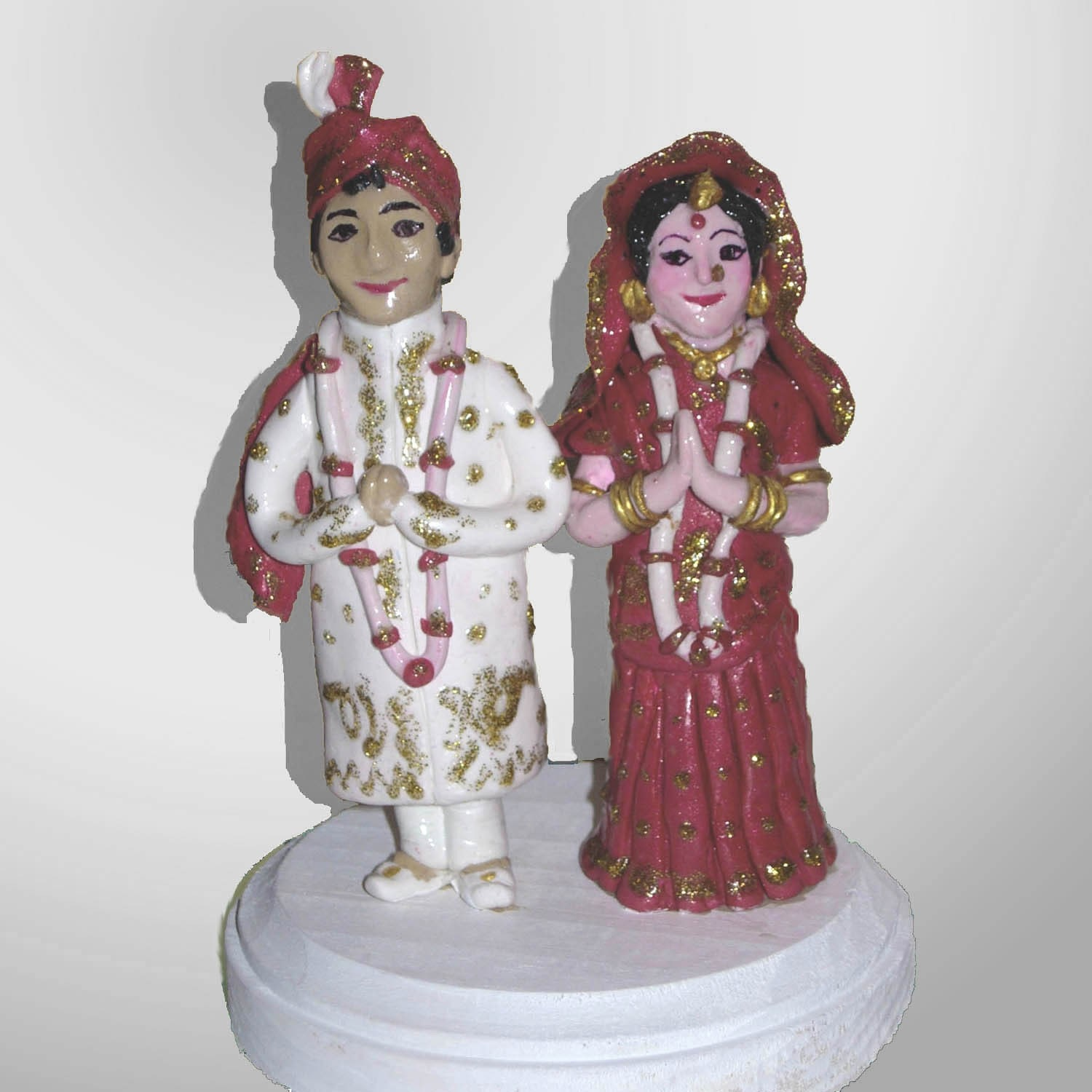 Indian Bride Groom Wedding Cake Topper Custom Made To Order