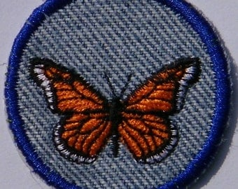 Iron On Monarch Butterfly Patch / Merit Badge