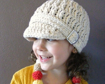 Ecru Toddler Hat 2T to 4T Toddler Girl Hat Toddler Boy Hat Cotton Hat Crochet Hat Winter Hat Buckle Beanie Off White Toddler Hat Natural