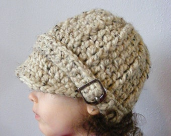Toddler Hat 2T to 4T Toddler Girl Hat Toddler Boy Hat Toddler Girl Clothes Toddler Boy Clothes Oatmeal Hat Crochet Winter Hat Buckle Beanie