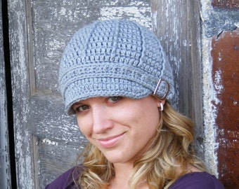 Womens Chemo Hat Womens Hat Womens Silk Hat Womens Bamboo Hat Crochet Visor Hat Buckle Beanie Stone Gray Womans Hat Soft Chemo Hat Silky