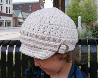 Toddler Newsboy Hat 2T to 4T Ecru Toddler Hat Toddler Girl Newsboy Cap Toddler Boy Newsboy Toddler Girl Hat Toddler Boy Hat Winter Hat
