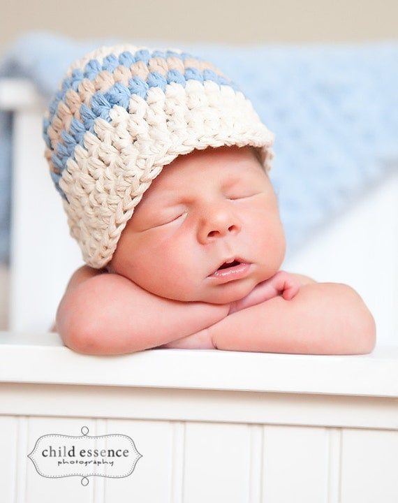 Newborn Boy Hat Newborn Baby Boy Hat Newborn Baby Hat Newborn Hat Ecru Light Blue Khaki Baby Boy Clothes Photo Prop Photography Prop Gift