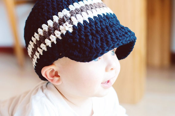 Toddler Boy Hat 1T to 2T Navy Blue Toddler Hat Toddler Boy Cap Toddler Cap Toddler Boy Beanie Toddler Beanie Ecru Brown Toddler Boy Clothes