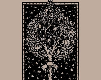 Art Rubber Stamp - Silhouette Bird Tree - H2165