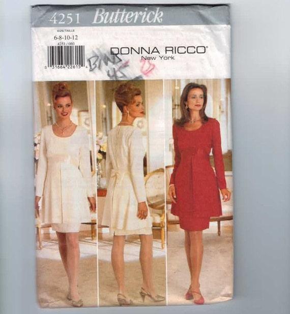Butterick 4251 Misses Sewing Pattern Suit Dress Size 6 8 10 12 Bust 30 31 32 34 UNCUT 1995