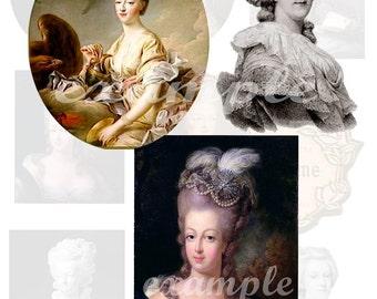 Marie Antoinette Digital Collage Sheet 4